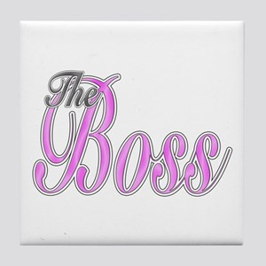 Pink Boss Lady Tile Coaster