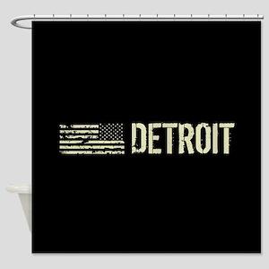 Black Flag: Detroit Shower Curtain