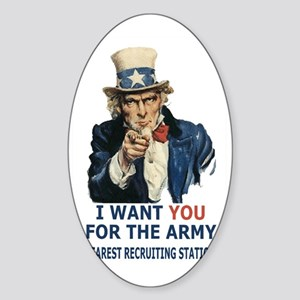 Army-Uncle-Sam-Poster Sticker (Oval)