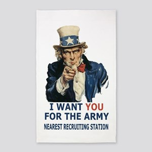 Army-Uncle-Sam-Poster 3'x5' Area Rug