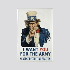 Army-Uncle-Sam-Poster Rectangle Magnet