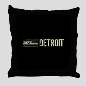 Black Flag: Detroit Throw Pillow