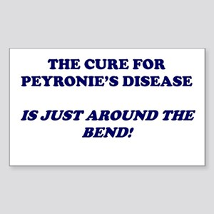 Cure for Peyronie's Disease Rectangle Sticker