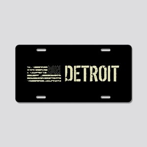 Black Flag: Detroit Aluminum License Plate
