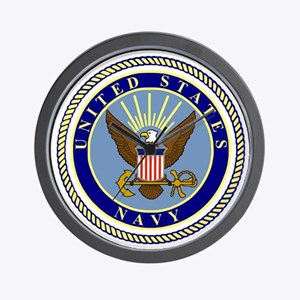Navy-Logo-9.gif Wall Clock