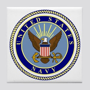 Navy-Logo-9 Tile Coaster