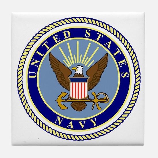 Navy-Logo-9.gif Tile Coaster