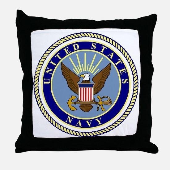 Navy-Logo-9.gif Throw Pillow