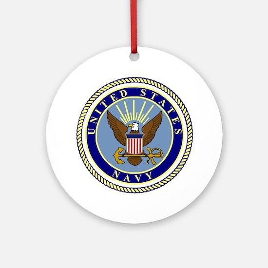 Navy-Logo-9.gif Round Ornament