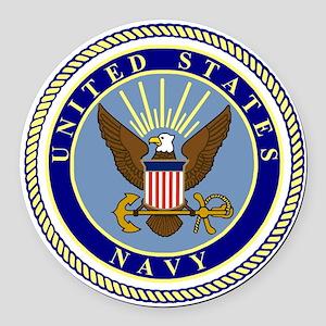 Navy-Logo-9 Round Car Magnet