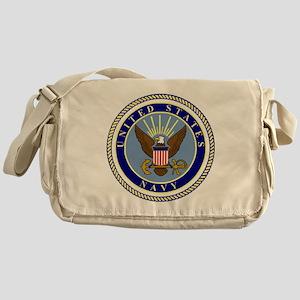 Navy-Logo-9 Messenger Bag