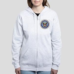 Navy-Logo-9 Women's Zip Hoodie