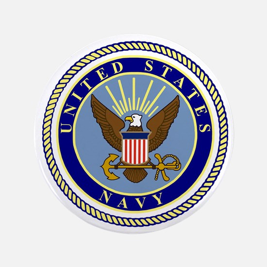 """Navy-Logo-9.gif 3.5"""" Button"""