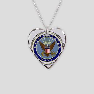 Navy-Logo-9 Necklace Heart Charm