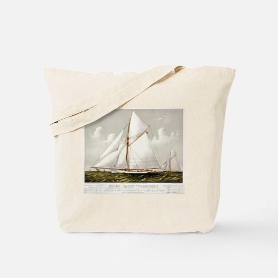Sloop yacht Volunteer - 1887 Tote Bag