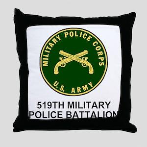 Army-519th-MP-Bn-Shirt-4 Throw Pillow