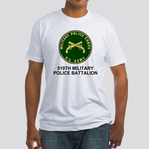Army-519th-MP-Bn-Shirt-4 Fitted T-Shirt