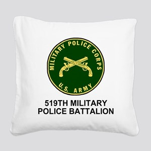 Army-519th-MP-Bn-Shirt-4 Square Canvas Pillow