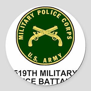 Army-519th-MP-Bn-Shirt-4 Round Car Magnet