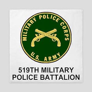 Army-519th-MP-Bn-Shirt-4 Queen Duvet