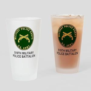 Army-519th-MP-Bn-Shirt-4 Drinking Glass