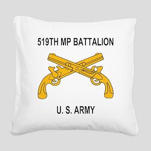 Army-519th-MP-Bn-Shirt-6-A.gi Square Canvas Pillow