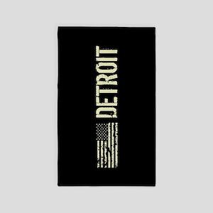 Black Flag: Detroit Area Rug