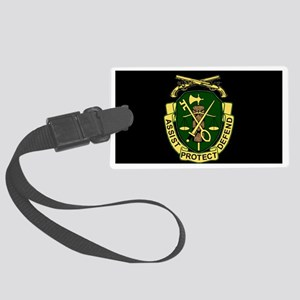 Army-519th-MP-Bn-Cap-6 Large Luggage Tag