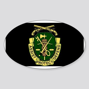 Army-519th-MP-Bn-Cap-6 Sticker (Oval)