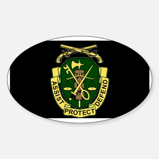 Army-519th-MP-Bn-Cap-6.gif Sticker (Oval)