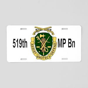 Army-519th-MP-Bn-Cap-6 Aluminum License Plate