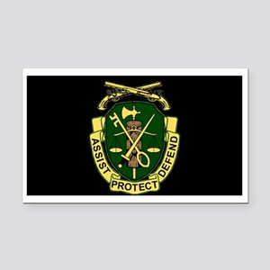 67f4ca55bf9 Army-519th-MP-Bn-Cap-6 Rectangle Car Magnet
