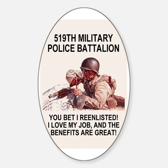 Army-519th-MP-Bn-Poster.gif Sticker (Oval)