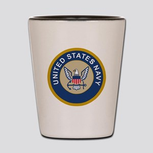 Navy-Logo-10-Blue Shot Glass