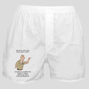 Navy-Humor-Life-On-A-Ship-Poster Boxer Shorts