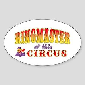 Circus Ringmaster Sticker (Oval)