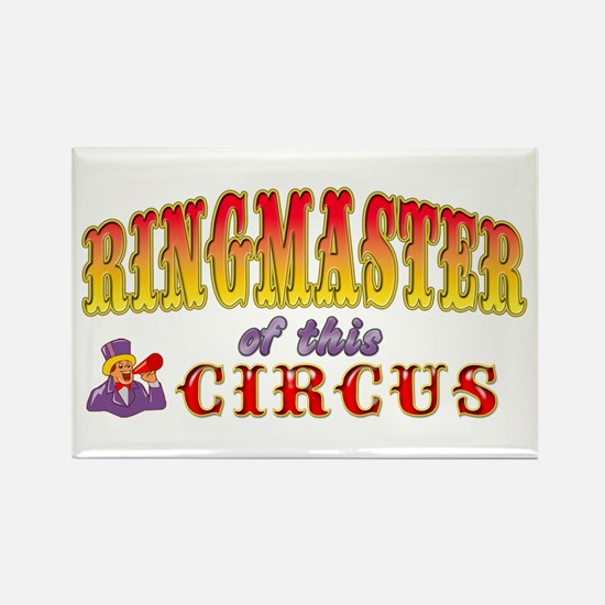Circus Ringmaster Rectangle Magnet