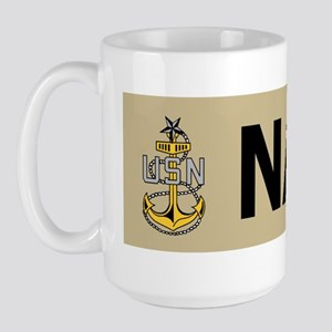 Navy-SCPO-Bumpersticker Large Mug