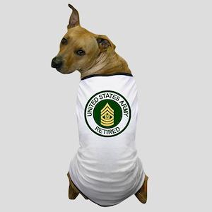 Army-Retired-CSM-Rank-Ring-2 Dog T-Shirt