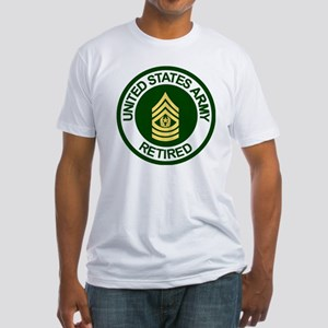 Army-Retired-CSM-Rank-Ring-2 Fitted T-Shirt