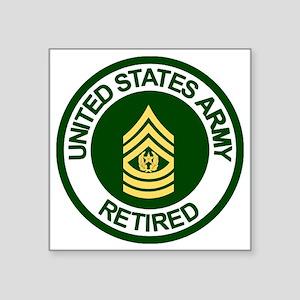 "Army-Retired-CSM-Rank-Ring- Square Sticker 3"" x 3"""
