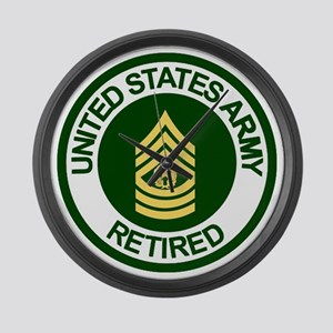 Army-Retired-CSM-Rank-Ring-2 Large Wall Clock