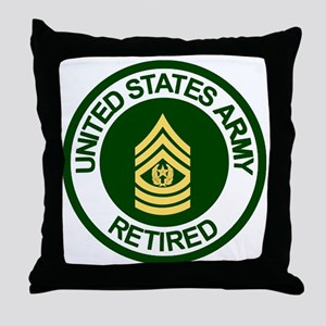 Army-Retired-CSM-Rank-Ring-2 Throw Pillow