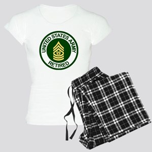 Army-Retired-CSM-Rank-Ring- Women's Light Pajamas