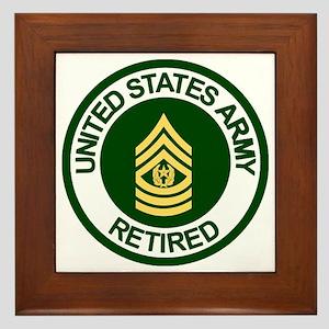 Army-Retired-CSM-Rank-Ring-2 Framed Tile