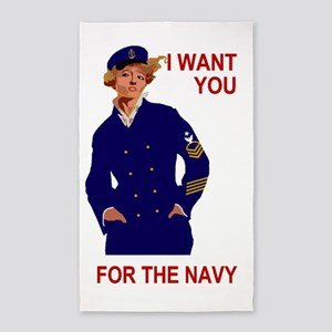 Navy-Humor-I-Want-You-Poster-E8 3'x5' Area Rug