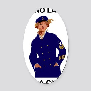 Navy-Humor-Im-A-Chief-Poster-E8.gi Oval Car Magnet