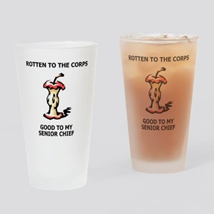 Navy-SCPO-Rotten-To-The-Corps Drinking Glass