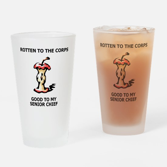 Navy-SCPO-Rotten-To-The-Corps.gif Drinking Glass