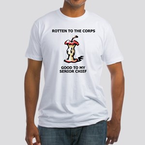Navy-SCPO-Rotten-To-The-Corps Fitted T-Shirt